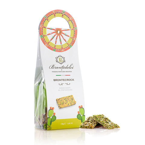 Sicilian Pistachio Brittle With White Chocolate - Torrone Candy
