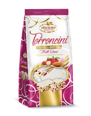 Oliviero Soft Nougat with Cranberries Torroncini - Torrone Candy