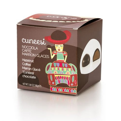 "Assorted Cream Filled ""Cuneesi"" Dark Chocolates"