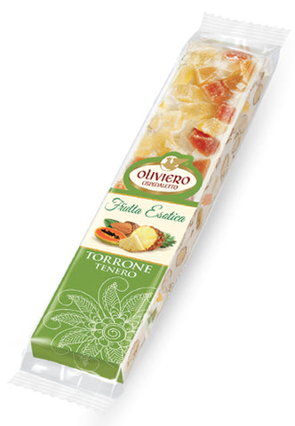 Oliviero Soft Torrone Snack Bar - Tropical Fruits - Torrone Candy
