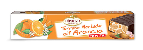 Oliviero Soft Torrone Nougat Bar - Orange Flavored