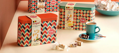 Vital Soft Assorted Nougat Tin (Belgium) - Torrone Candy