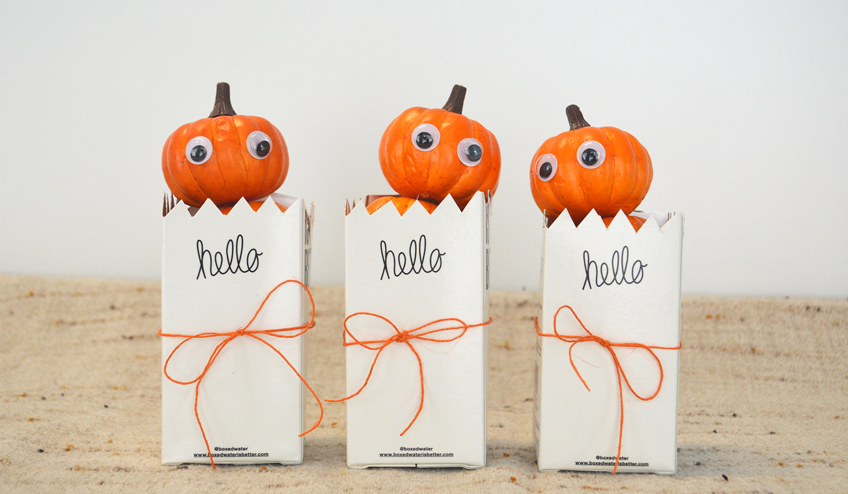 Boxes Reimagined! Perky Pumpkin Centerpieces and Creepy Crawly Drinks