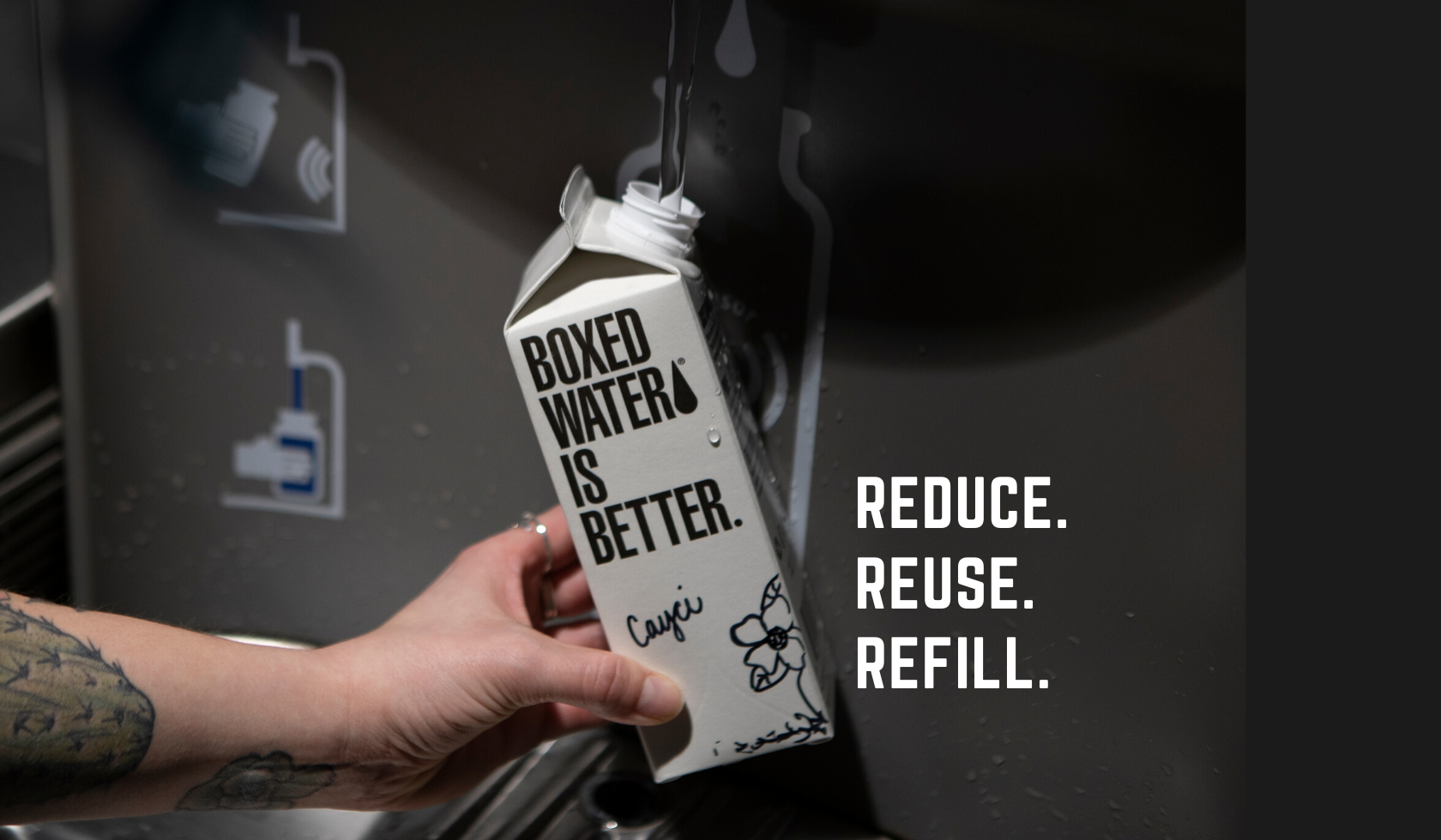 Did you know? Boxed Water cartons are reusable!