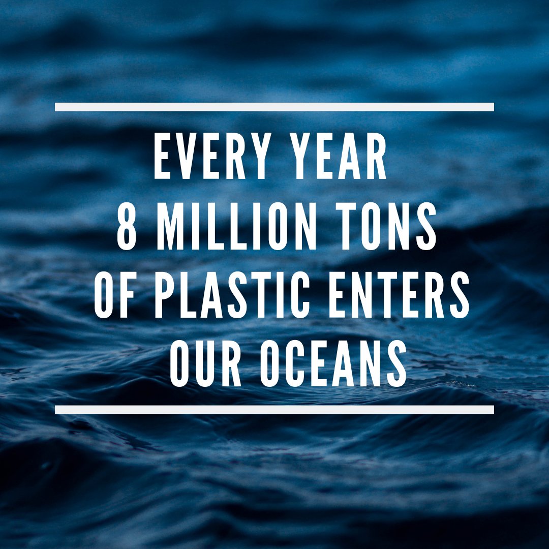 8.8 Million tons of plastic enters our oceans