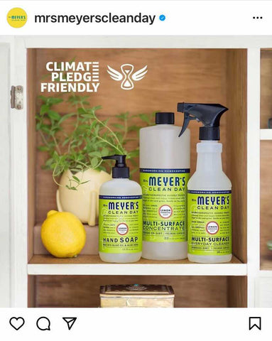 Lemon-scented Meyers Clean Day products