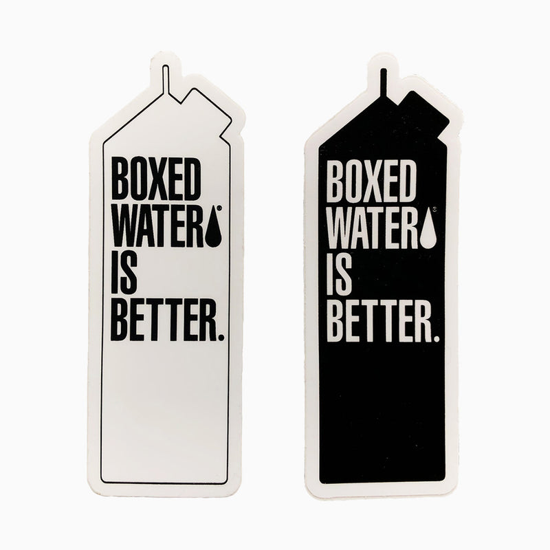 Boxed Water Carton Stickers