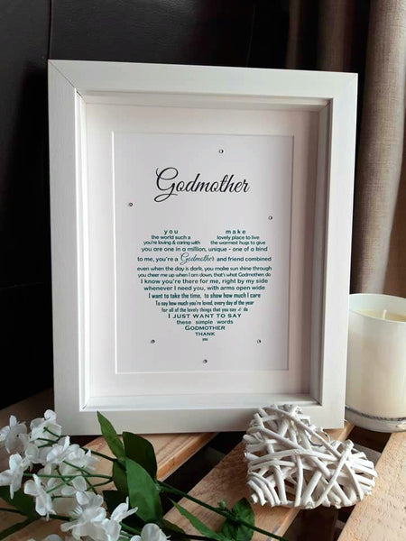 Godmother Gift -Thank You Gift for Godmother