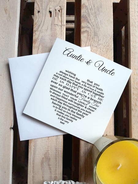 Auntie Uncle Card - Auntie and Uncle Anniversary card
