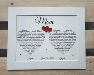 Mother of the Bride Gift - Wedding Gift for Mum from Bride and Groom