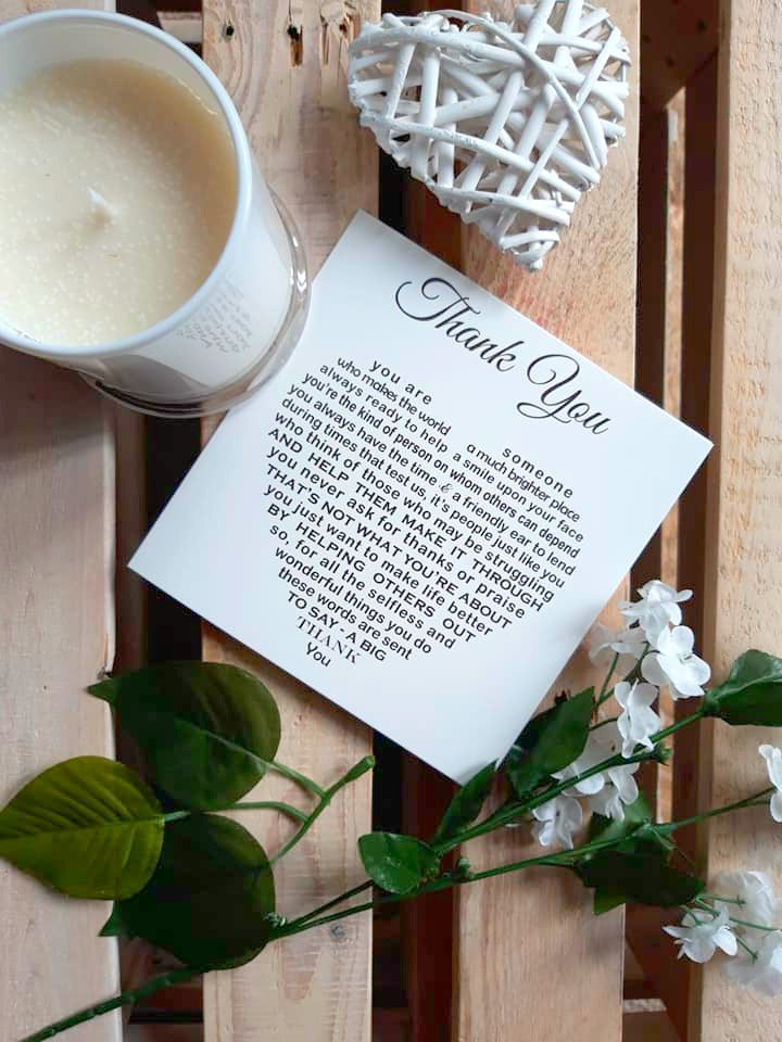 Thank You Card - Sentimental Thank You for Everything Poem