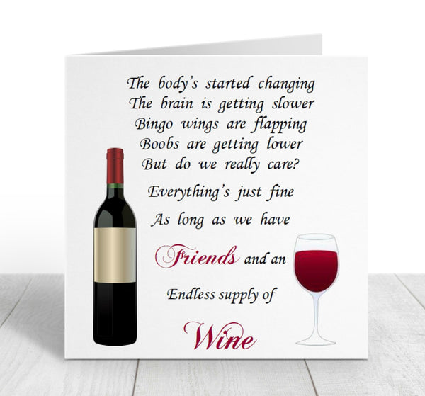 Friend Card - Friends and Wine