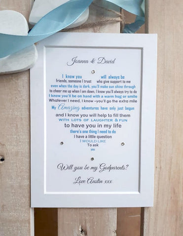 Will you be my Godparents - Christening request