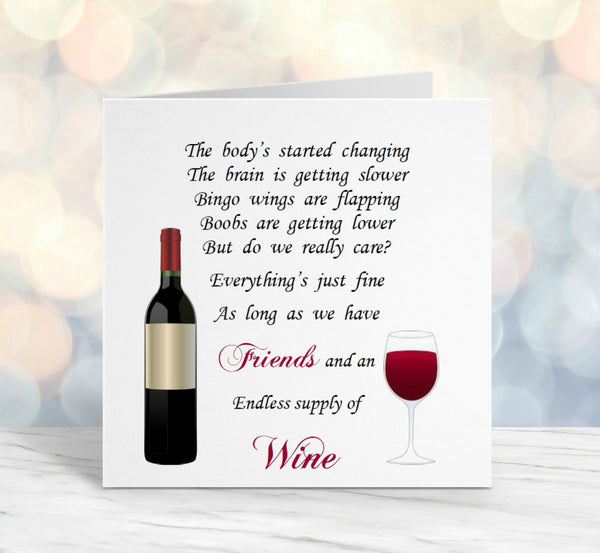 Friend Card - Friends and Wine 50th