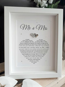 Personalised Wedding Gift- Personalised print for Bride and Groom
