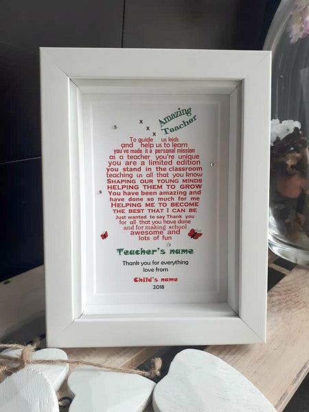 Teacher Gift - Unique Teacher poem