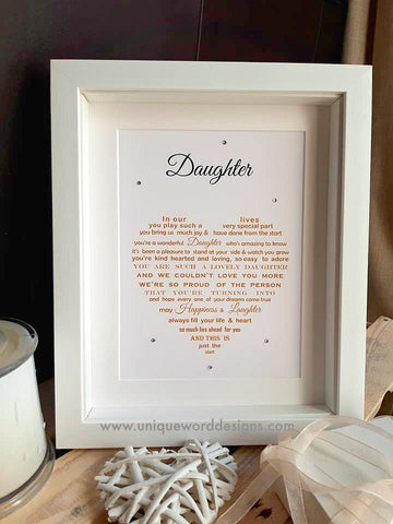 Daughter Gift -  Christmas or Birthday Gift from Mum, Dad or both