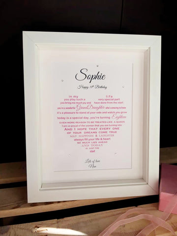Granddaughter-18th-Birthday-Gift-Framed-Personalised-Poem