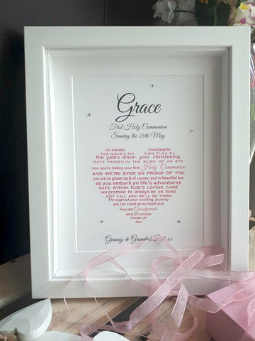 Communion Gift - Personalised print for First Holy Communion