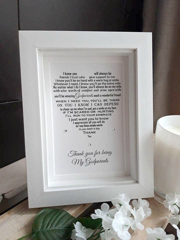 Godparents Gift - Godparents thank you gift