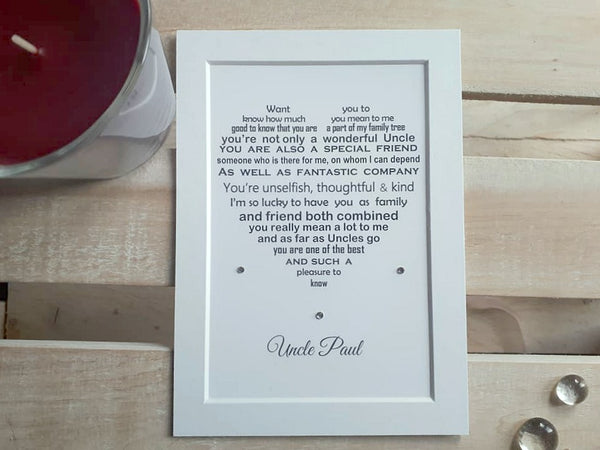 Uncle Gift -   Personalised Poem Print