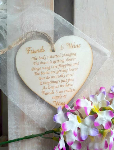 Wooden Heart - Friends and Wine poem