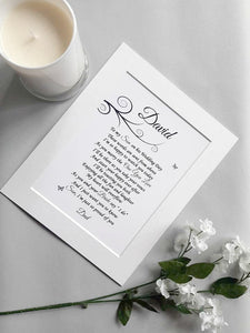 Memorial Letter from Heaven for Groom