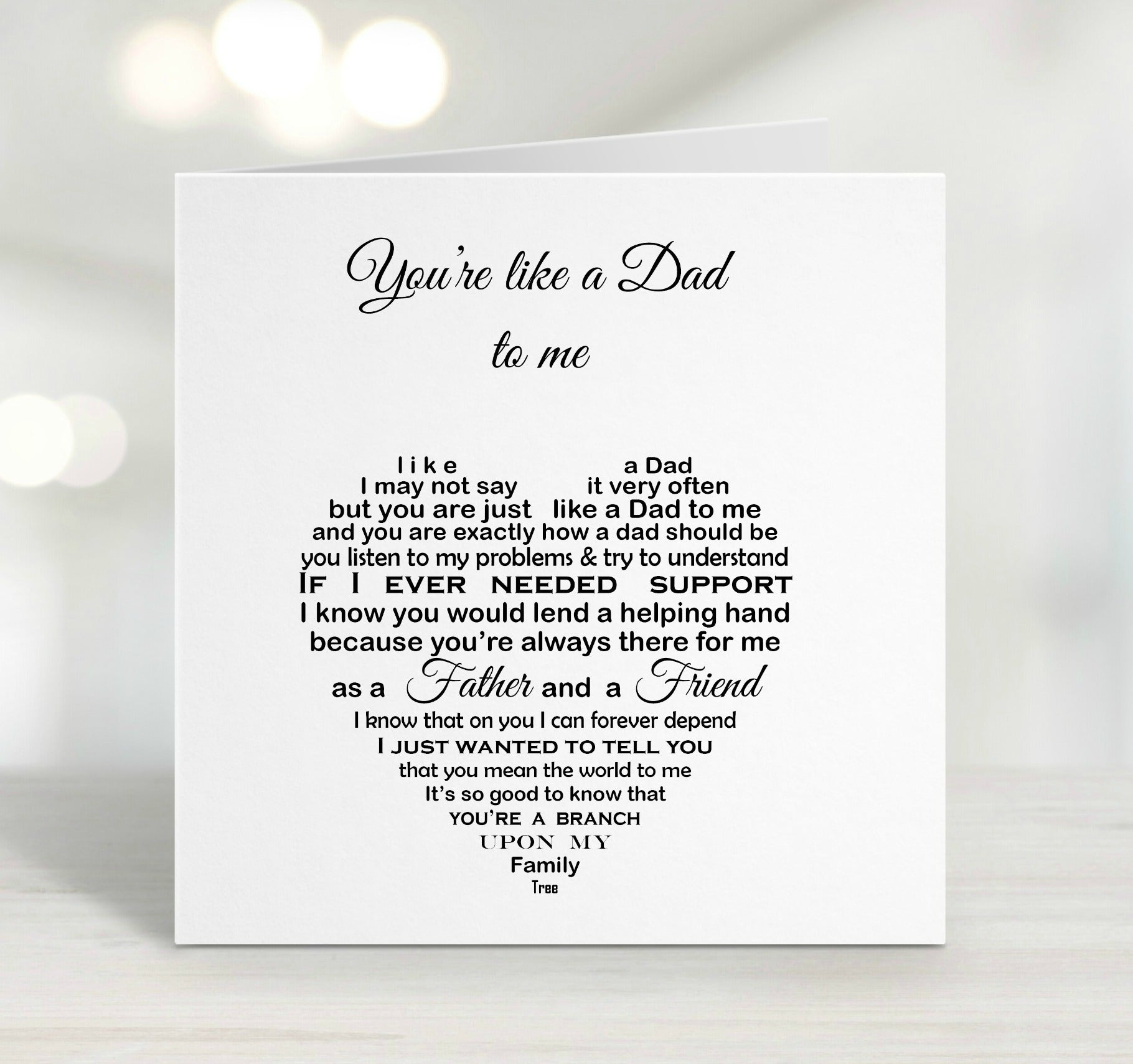 Step Dad Card - Like a Dad Birthday Card