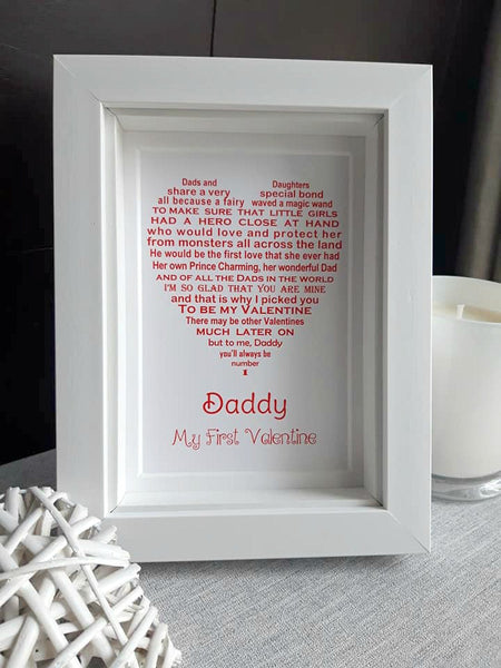 Daddy Valentine Gift -  Personalised Valentine Gift from Daughter