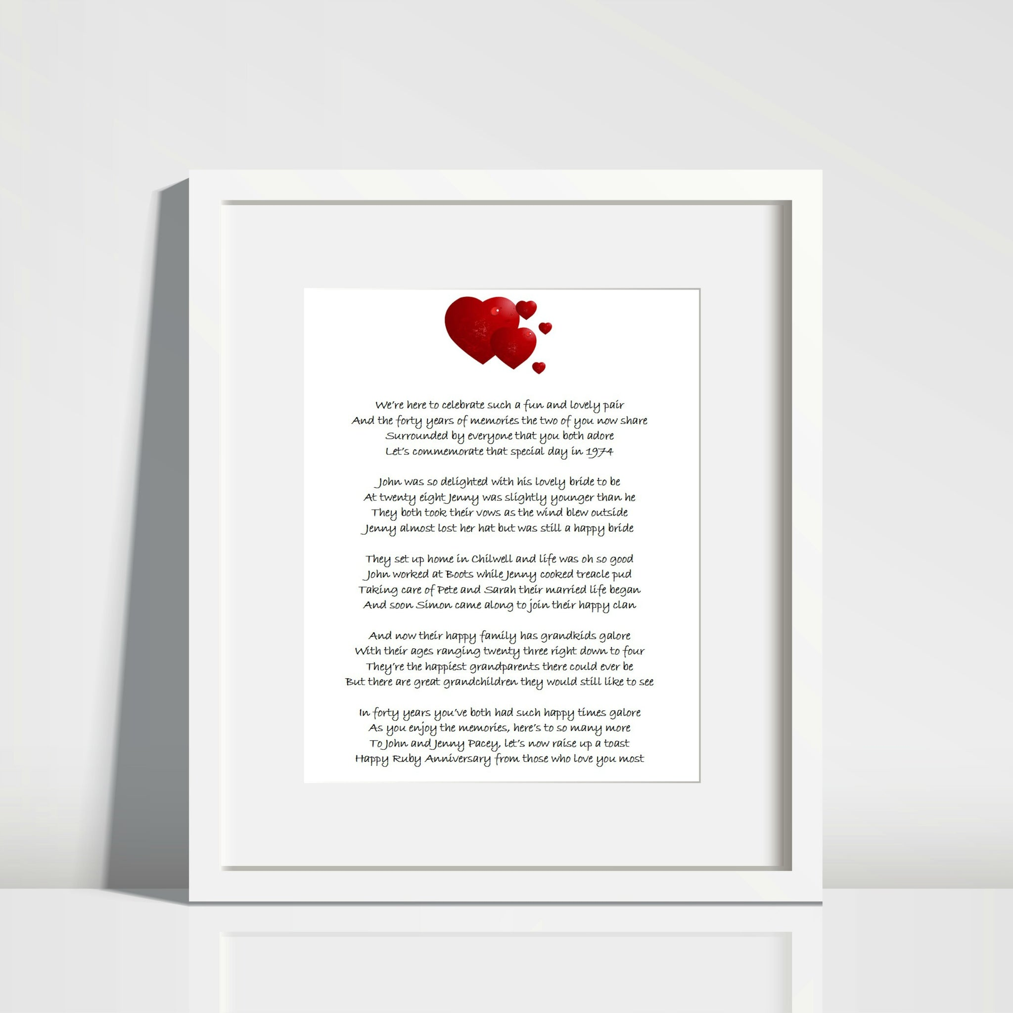 Bespoke Personalised Poem for any occasion