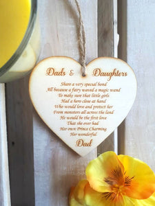 Wooden Heart - Dads and Daughter poem