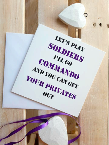 Funny Card - Commando card for him (or her)