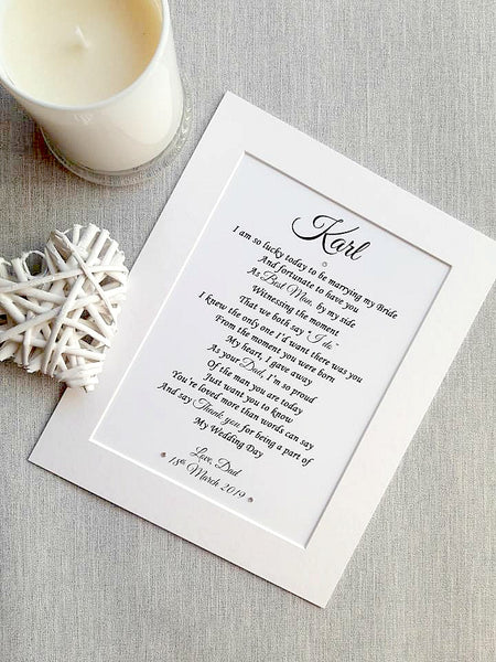 Son of the Groom Wedding Gift- Personalised print