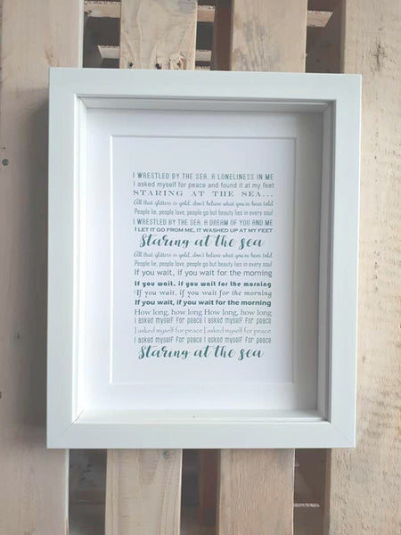 Lyrics Gift -  Personalised Lyric print