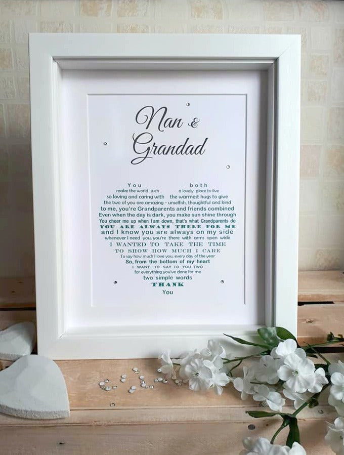 Grandparents Gift -  Nan and Grandad, Gran and Grandpa Print