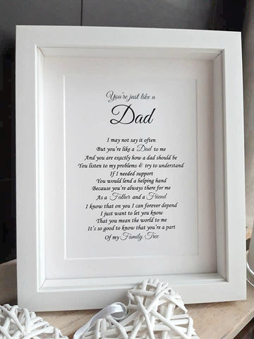 Step Dad Gift -  Like a Dad Personalised Poem Print