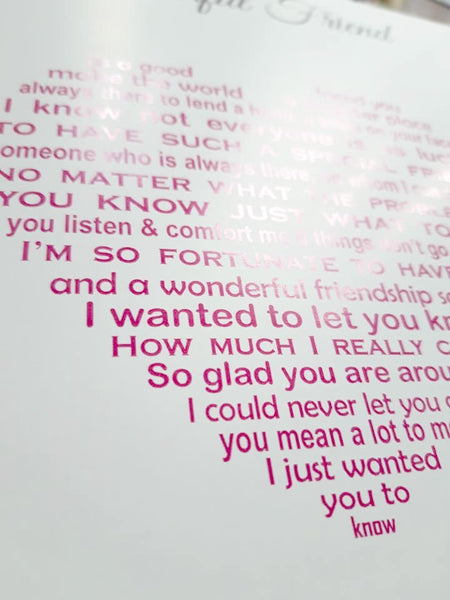 Friend Card - Sentimental Poem - Missing You - Birthday