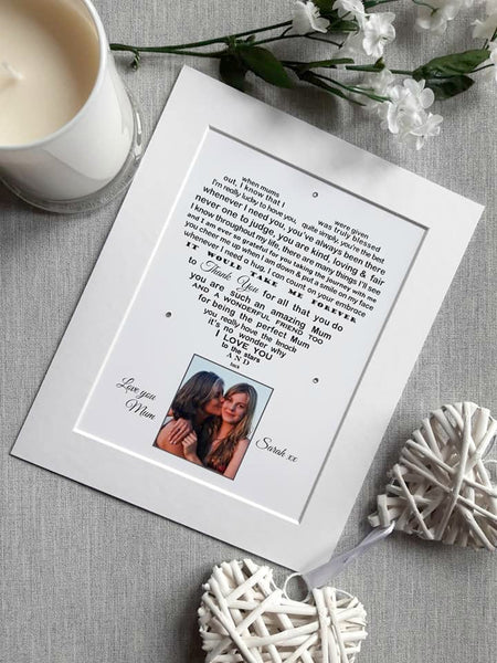 Mum Gift -  Mum Photo Gift - personalised print