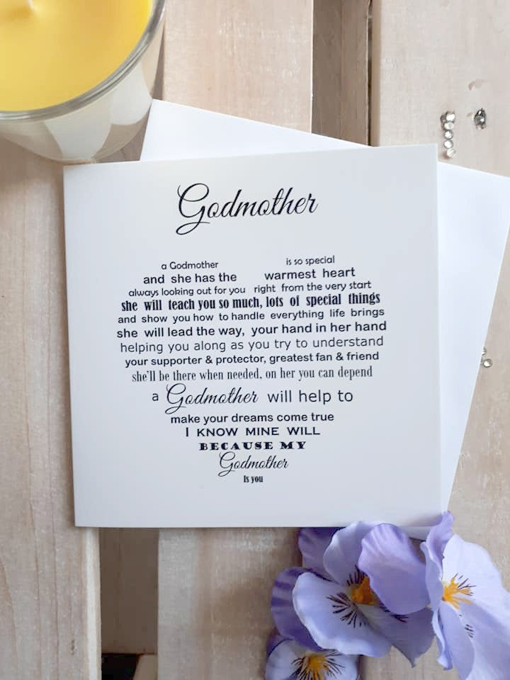 Godmother card - Card for Godmother, can be used for any occasion