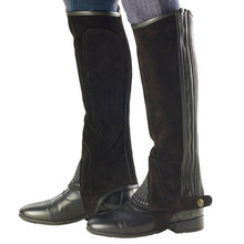 Load image into Gallery viewer, Ovation Ribbed Suede Half Chaps