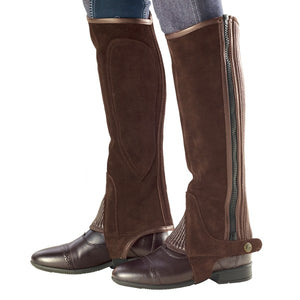 Ovation Ribbed Suede Half Chaps