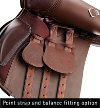 Load image into Gallery viewer, Bates All Purpose Square Cantle Saddle (CAIR) Heritage Leather