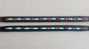 Blue Bead and Crystal Browband