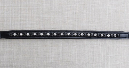 Cadence Black and Crystal Browband