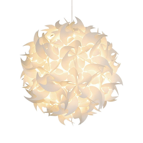Deluxe Hooks Pendant Light Fixture - Warm white glow