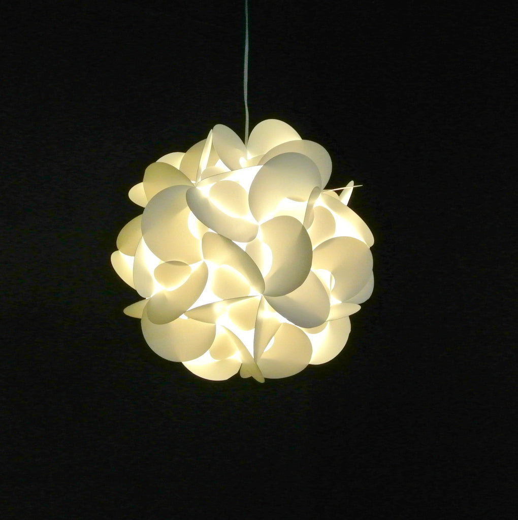 Hanging Pendant Light Fixture Medium Rounds Warm White