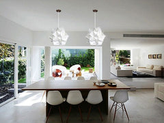 Medium Spades Pendant Light Fixture - Warm white glow