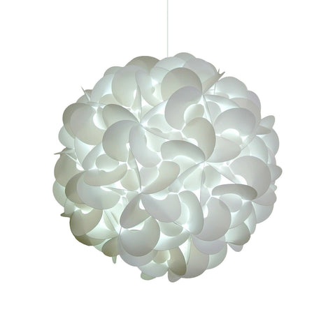 Deluxe Rounds Hanging Pendant Light - Cool white glow