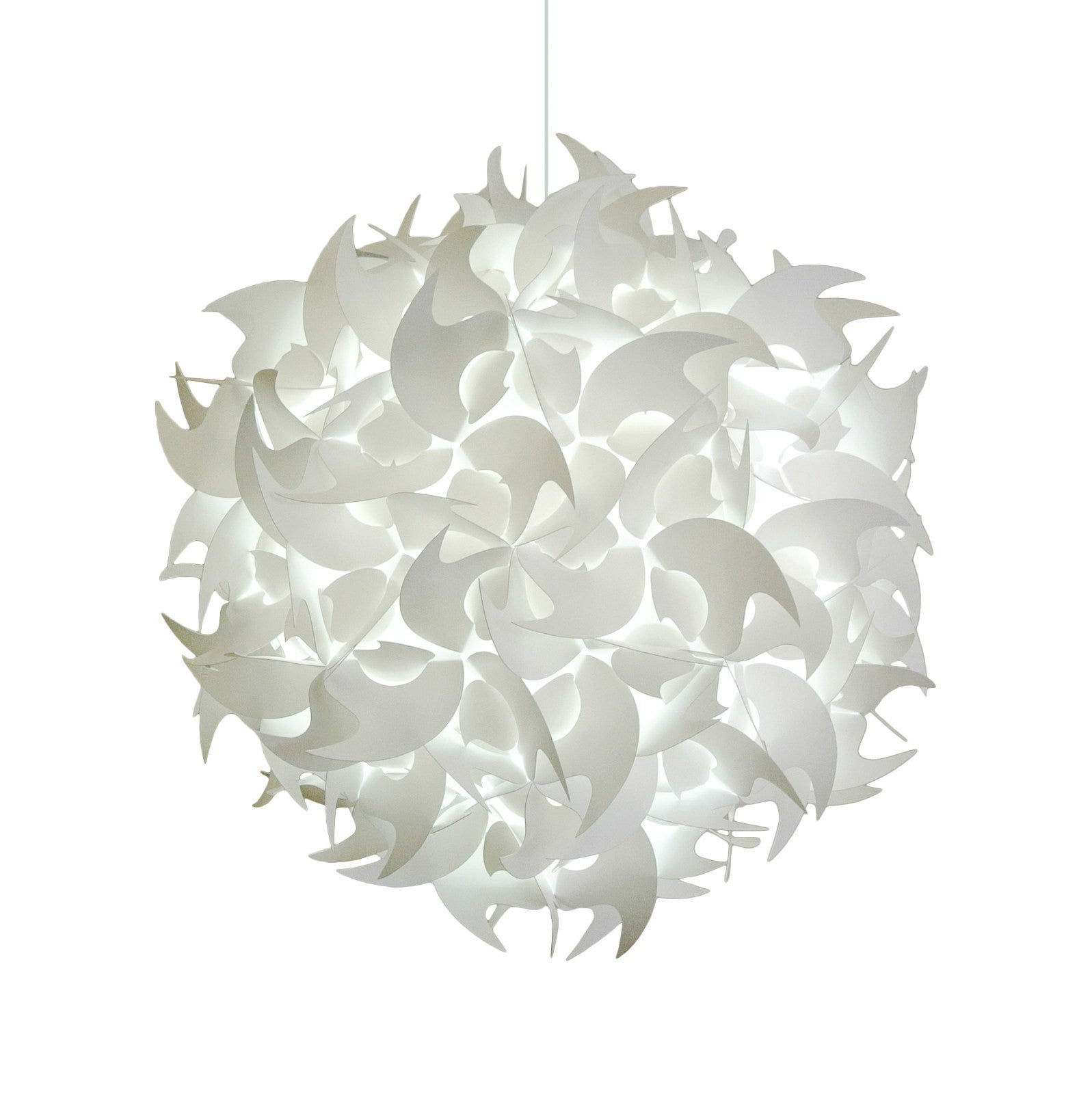 Deluxe hooks hanging pendant lamp 22u201d cool white glow arubaitofo Image collections