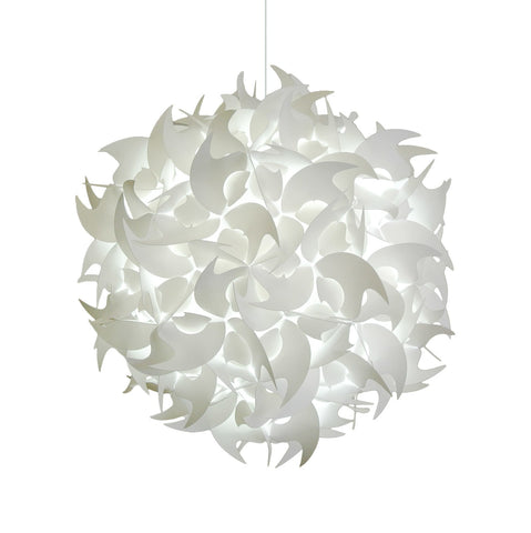 Deluxe Hooks Pendant Light Fixture - Cool white glow